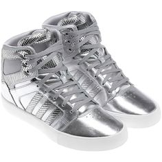 Want Want Want Adidas Basketball Neo Hi Top X Shoe, Metallic Silver/White