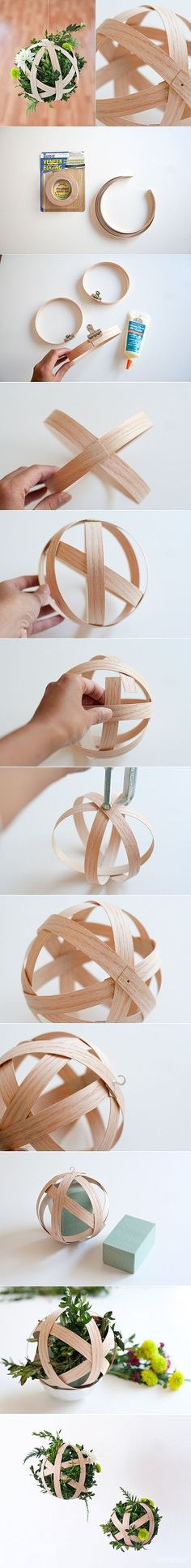 Make a flower ornament by hands.