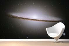 Sombrero Galaxy Mural Wallpaper. Amy LOVES this! :)