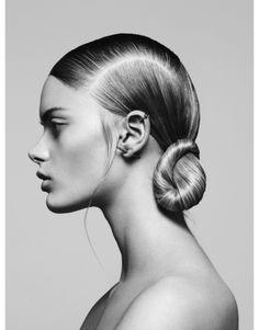 sleek modern hair