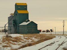 grain elevator in Delia, Alberta