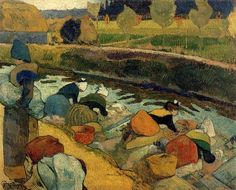 Paul Gauguin, Washerwomen at Roubine du Roi (1888) on ArtStack #paul-gauguin #art