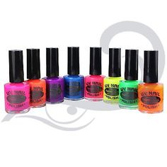 Uv neon glow nail #varnish by #paintglow fluorescent #bright coloured polish,  View more on the LINK: 	http://www.zeppy.io/product/gb/2/201466064323/