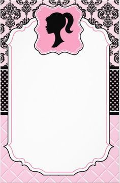 Barbie Invitations From I And Get Inspired To Make Your Party Invitation With These Graceful Ideas 5 Barbie Party Decorations, Barbie Theme Party, Barbie Birthday Party, 7th Birthday, Barbie Birthday Invitations, Party Invitations, Vintage Barbie Party, Vintage Dolls, Barbie Cake