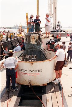 liberty bell 7 Grissom's Capsule recovered from sea bottom