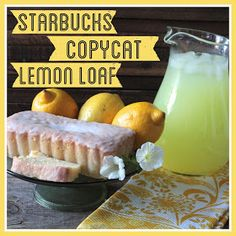 Copycat Starbucks Lemon Pound Cake courtesy of Bright Green Door Just Desserts, Delicious Desserts, Dessert Recipes, Yummy Food, Brunch Recipes, Breakfast Recipes, Starbucks Lemon Pound Cake, Restaurant Recipes, Cupcake Cakes