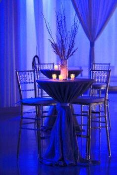 Cocktail Tables at the Winter Wonderland event | Heaven Event Center
