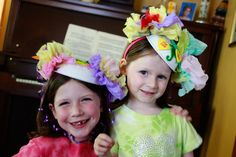 Aunt Peaches: Fun with Munchkins: Tea Party Paper Bowl Hats