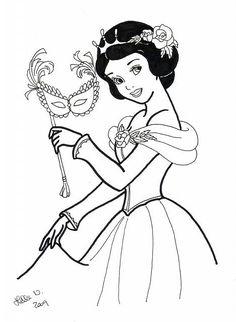 Al ballo in maschera disegni da colorare gratis
