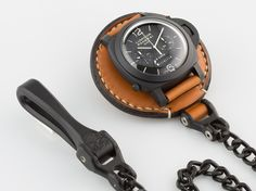 Rinascita Concepts Watch Saddle with custom Satin Black Hardware Panerai 317