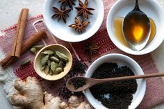 Masala Chai Tea  makes one 8 ounce serving  3/4 cup water   2-4 whole green cardamom pods, smashed  1-2 thin slices fresh ginger  1 1-inch cinnamon stick   1 piece star anise  3/4 cup milk   1 1/2 teaspoons loose black tea leaves   Sweetener, to taste (I prefer honey or maple syrup)