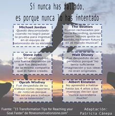 #Infografía #PatriciaCanepa #MarqueLaDiferencia Fracasos Famosos, adaptado de fuente original.