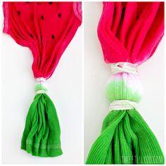 Watermelon Tie Dye Tee - sweet lil you