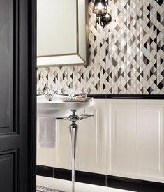 Paris Saint Germain | Tubądzin Furniture, House Design, Apartment Design, Home Decor, Bathroom Mirror, Framed Bathroom Mirror, Bathroom Vanity, Bathroom, Tile Art