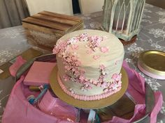 My attempt at a Cherry Blossom cake for a dear friend.