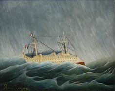 Henri Rousseau - Le navire dans la tempête (1899)