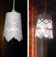 ljuslykta från IKEA göra om till lampa