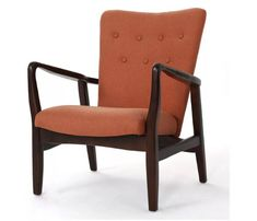 Becker Upholstered Arm Chair - Orange - Christopher Knight Home Accent Chair Set, Swivel Barrel Chair, Upholstered Arm Chair, Chair Upholstery, Chair Fabric, Chair Cushions, Fabric Armchairs, Small Armchairs, Small Living Rooms