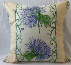 Charming French Provence Lavender Scroll by FrenchPillowHouse, $48.00