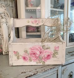 "Antique Shabby Chic Pink Roses Panel by Debi Coules Figure out additional relevant information on ""shabby chic furniture"". Visit our web site.Figure out additional relevant information on ""shabby chic furniture"". Visit our web site. Shabby Chic Pink, Cajas Shabby Chic, Cocina Shabby Chic, Shabby Chic Vintage, Muebles Shabby Chic, Shabby Chic Dining, Shabby Chic Living Room, Shabby Chic Bedrooms, Style Vintage"