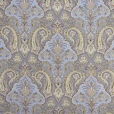 Stunning paisley spring drapery and upholstery fabric by Kravet. Item AGATI.315.0. Free shipping on Kravet products. Always first quality. Over 100,000 luxury patterns and colors. Width 53 inches. Swatches available.
