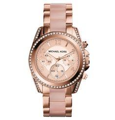 #1000undEinenWunsch  welch wunderschöne Uhr  MICHAEL KORS Damenuhr Chronograph IP rosévergoldet MK5943