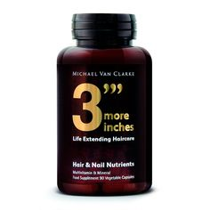 """3"""" More Inches by Michael Van Clarke Hair and Nail Supplements is a comprehensive combination of nutrients that support the maintenance of healthy hair and nails.   Including zinc,..."""