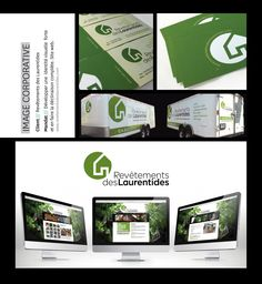 Conception d'une image corporative et d'un site web pour revetementsdeslaurentides.com Design Graphique, Site Web, Images, Corporate Design