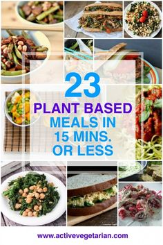 23 Plant Based Meals in 15 Minutes or Less
