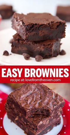 This easy homemade BROWNIE recipe makes delicious fudgey homemade brownies As easy as to make as a box mix but so much better brownies chocolate dessert recipes baking lftorecipes Quick Dessert Recipes, Easy Cake Recipes, Easy Desserts, Cookie Recipes, Brownie Mix Recipes, Keto Recipes, Easy Desert Recipes, Nutella Recipes, Oven Recipes