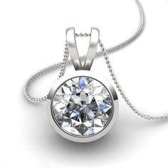 Diamant Anhänger Solitär 0.25 Karat aus 585er Weißgold F/VS2