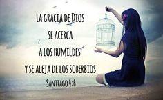 La gracia de Dios se acerca a los humildes y se aleja de los soberbios. (Santiago 4:6)