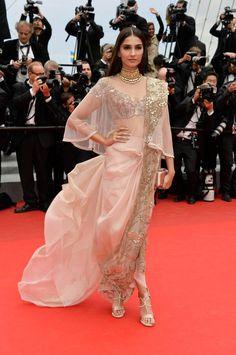 Sonam Kapoor @ Cannes 14 via L'Oreal Paris Facebook