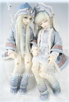 North & Iceland - Snow Maiden & Ice Lad bjd doll