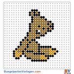 Teddy vom Mr Bean buegelperlen vorlagen web ba692