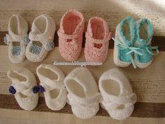 Handmade Cristina: Crochet and knitting Booties