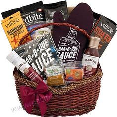 BBQ gift basket Bbq Gifts, Gourmet Gift Baskets, Bar, Corporate Gifts, Fresh Fruit, Gourmet Recipes, Image Search, Food, Promotional Giveaways