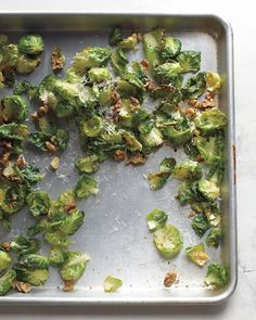 crisp brussels sprout leaves