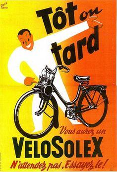 Le Velosolex ! Nous les enfants de 1960 #vintage #vintageads #velosolex