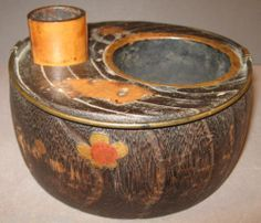 19th Century Japanese Tabako Bon Inlaid Wood Bamboo Brass Hammered Copper | eBay