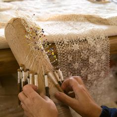 Belgian lace - what a treat to see the Belgian ladies make this lovely lace in Brussels.