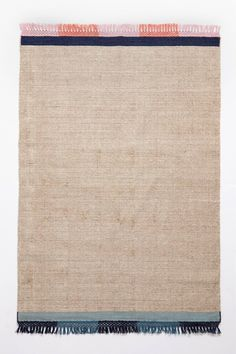 Striped Edge Flatweave Rug - anthropologie.com