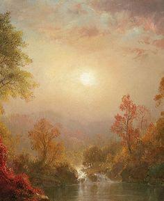 "1875 - ""Autumn"", by Frederic Edwin Church (american, 1826-1900), (detail)"