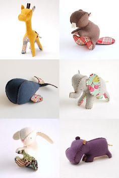 Not exactly a tutorial, but I think I could make my own pattern with these cute examples