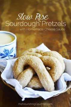 Homemade Sourdough Pretzels with a Delicious Cheese Sauce -- The Nourishing Gourmet