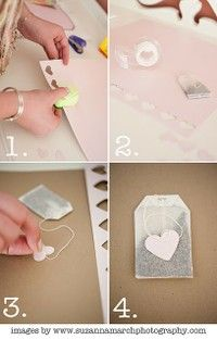 tea bags with the cutest hearts