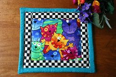 Cats Cats Cats insulated quilted pot holder