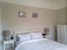 Egyptian cotton dulux silk paint (what I want to match the white company's Newport Throw in natural)