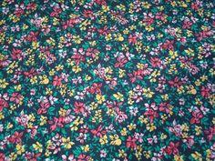 Vintage Retro 1960s 70s small floral print cotton fabric 112cm by 365cm