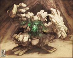 Snerra Rock Golem by MinohKim.deviantart.com on @deviantART